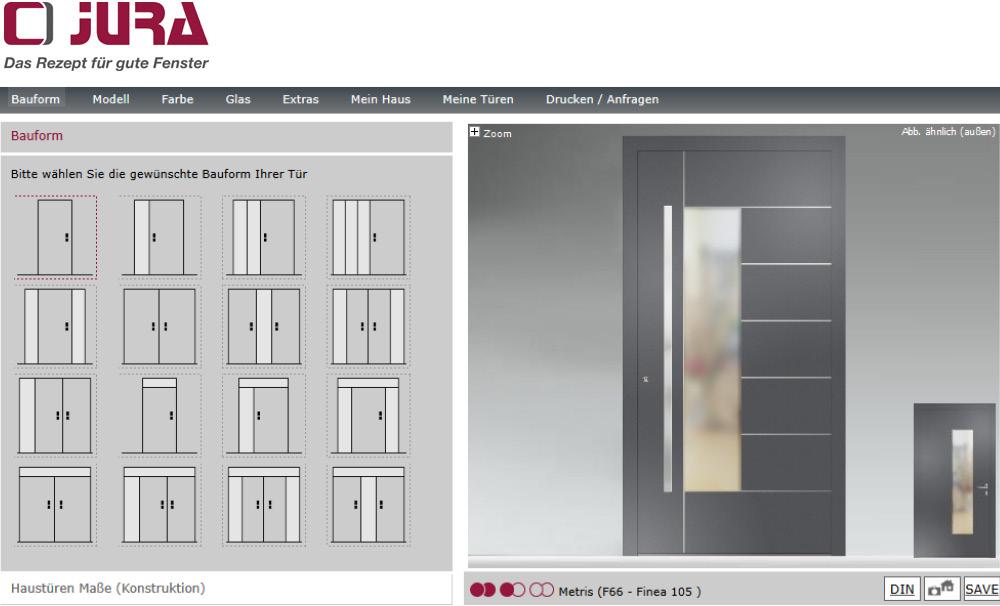 Haustürkonfigurator unseres Partners Adeco